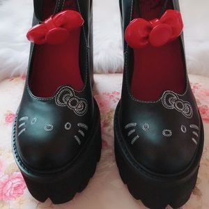 NEW Jeffrey Campbell x Hello Kitty Scully shoes